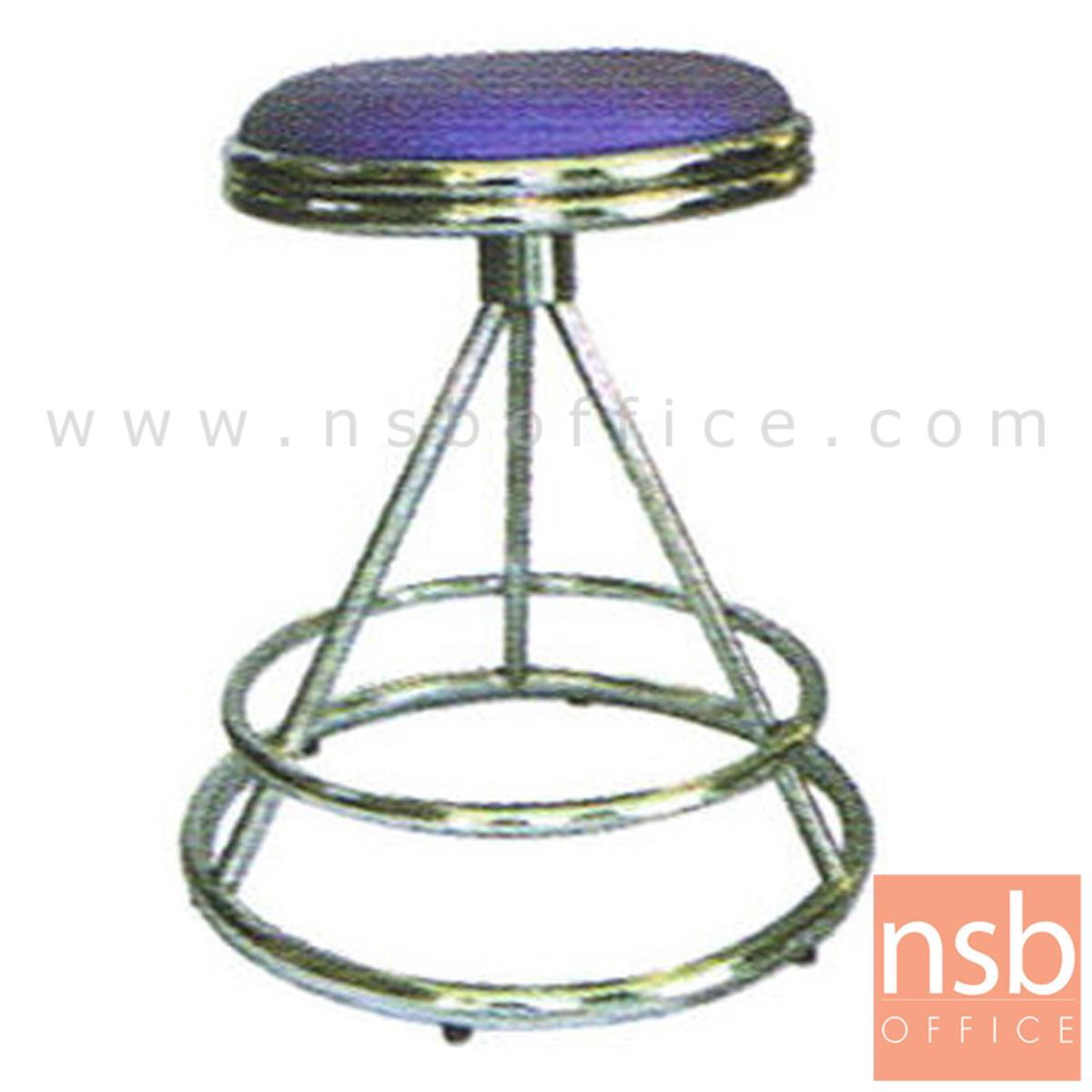 B09A011:เก้าอี้บาร์สตูลที่นั่งกลม รุ่น CS-027 ขาเหล็ก