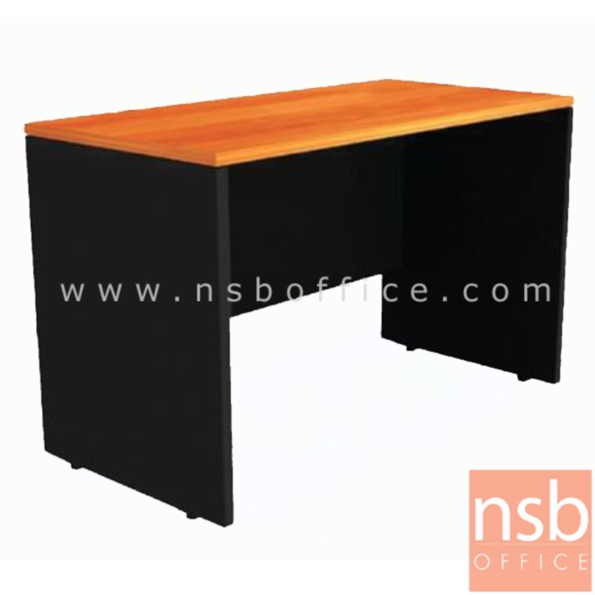 A12A052:โต๊ะทำงานโล่ง  รุ่น Mayweather ขนาด 150W cm. เมลามีน สีเชอร์รี่ดำ