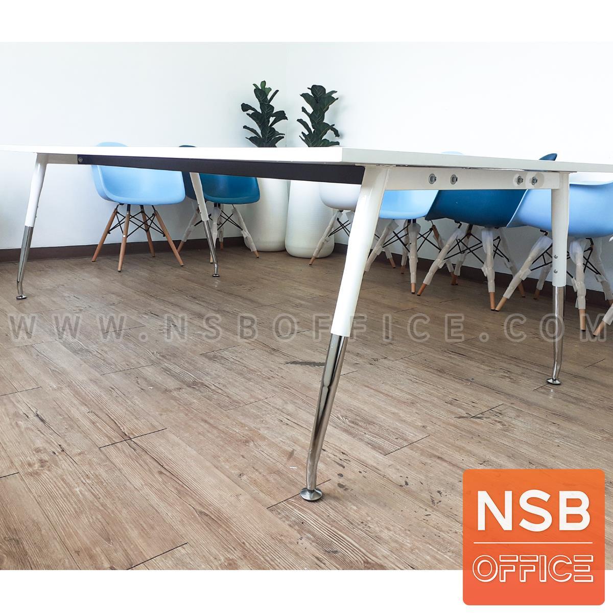 โต๊ะประชุมทรงสี่เหลี่ยม  ขนาด 150W ,180W ,200W ,240W cm.  ขาเหล็กปลายเรียว