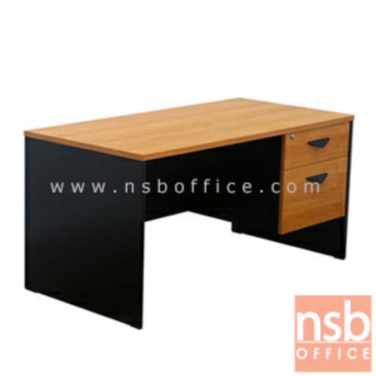 A16A001:โต๊ะทำงาน 2 ลิ้นชัก รุ่น Jam (แจม) ขนาด 120W, 150W cm.  เมลามีน