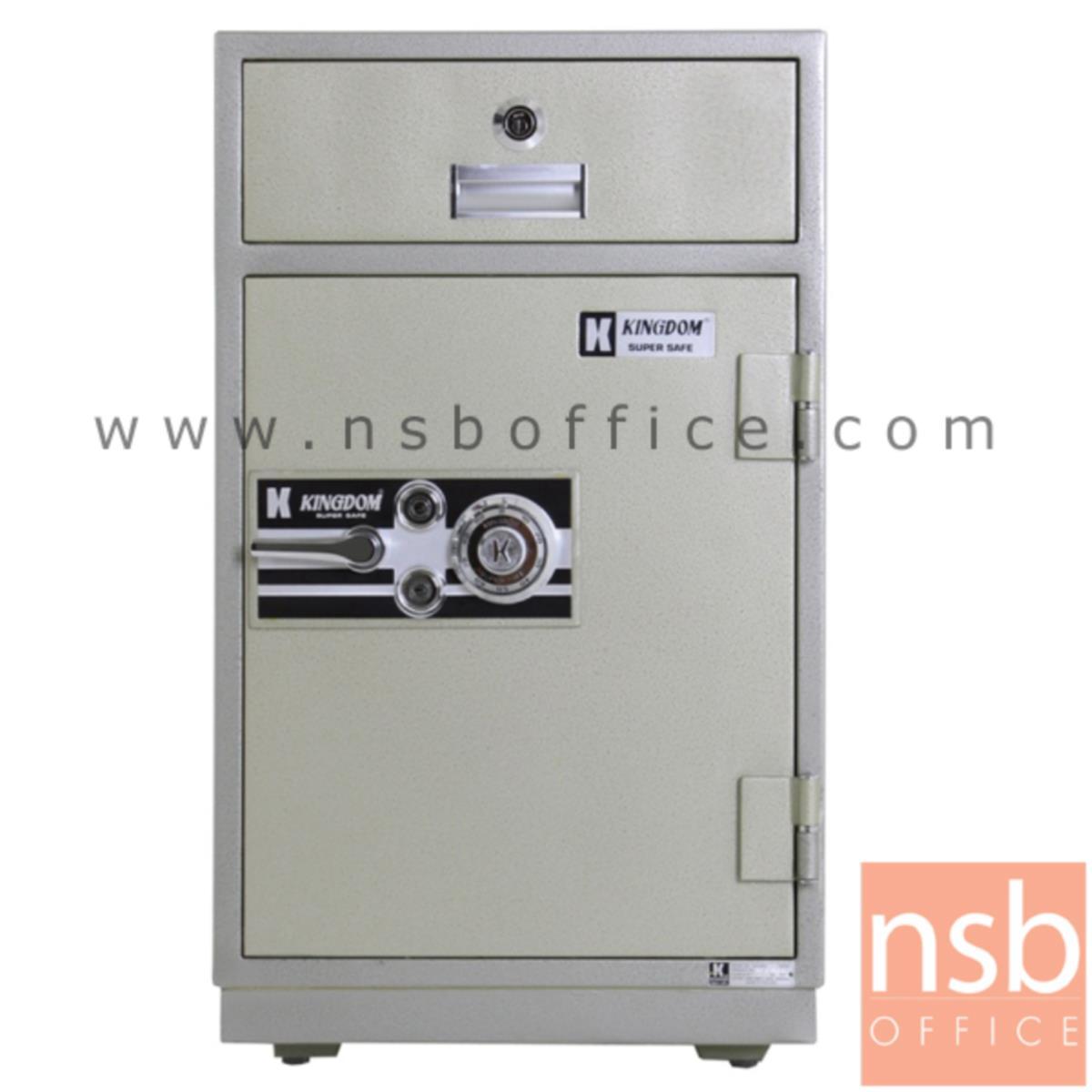 F04A006:ตู้เซฟแคชเชียร์ 160 กก. ยี่ห้อ KINGDOM รุ่น SAN-8253 (3 กุญแจ 1 รหัส)