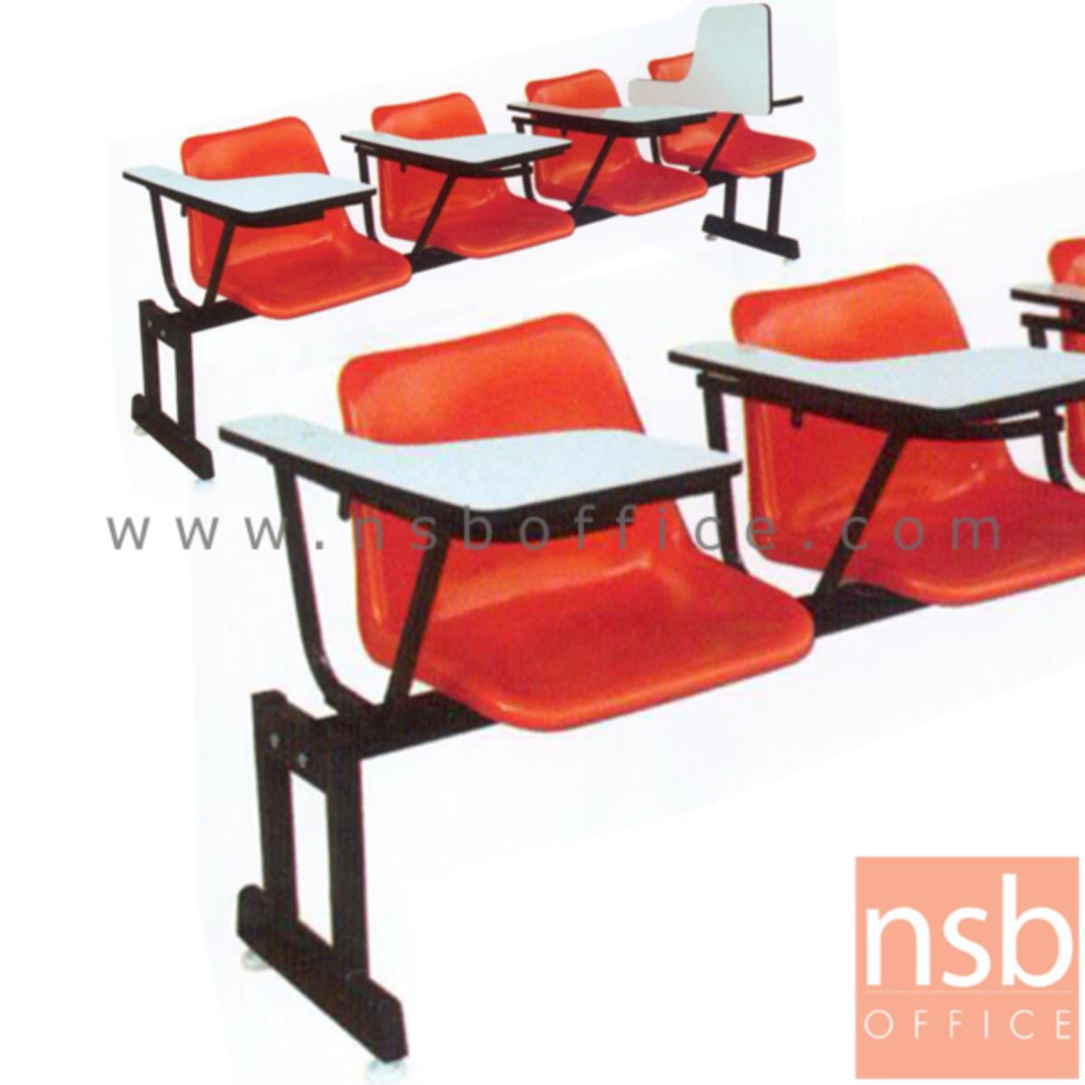 B17A029:เก้าอี้เลคเชอร์แถวเฟรมโพลี่ รุ่น PC311L 3 และ 4 ที่นั่ง ขาเหล็กเหลี่ยมพ่นสีดำ