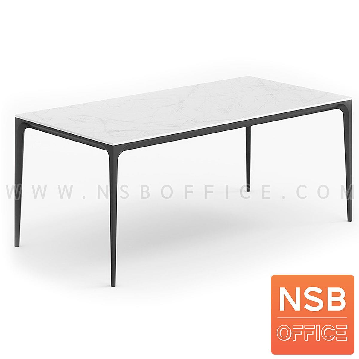 A05A233:โต๊ะทรงสี่เหลี่ยม รุ่น Flexcil (เฟล็กซิล) ขนาด 240W*120D cm. ขาเหล็กสีเทาเข้ม