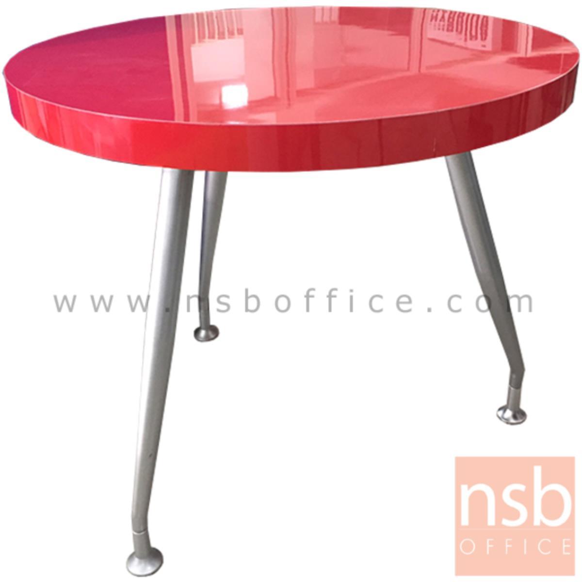 L10A179:โต๊ะประชุมกลม  ขนาด 90Di*79H cm. ขาเหล็ก