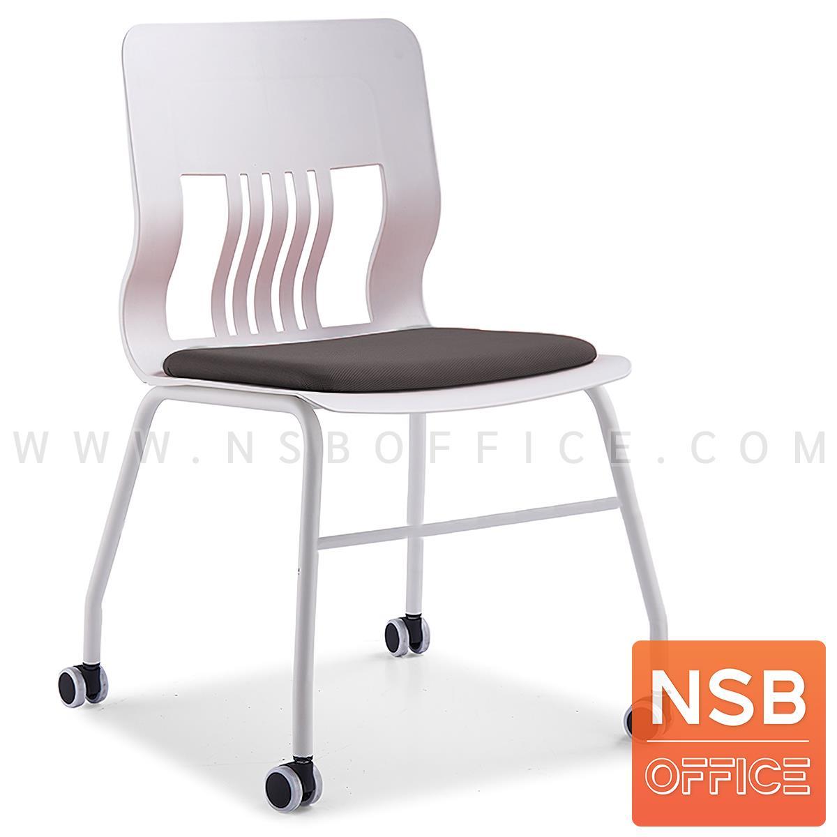 B05A172:เก้าอี้อเนกประสงค์เฟรมโพลี่ล้อเลื่อน รุ่น Chaucer (ชอเซอร์) ซ้อนเก็บได้