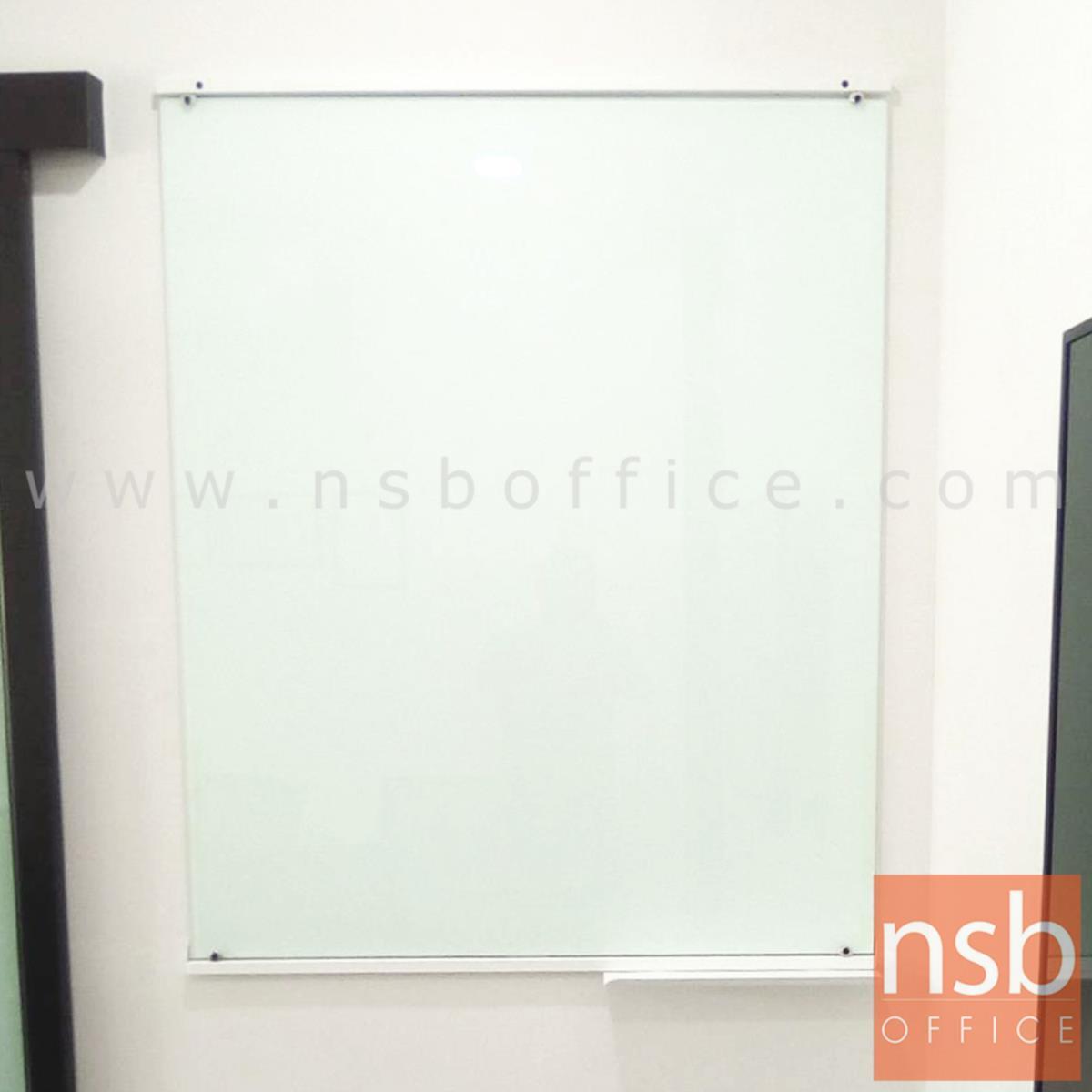 G01A065:ไวท์บอร์ดกระจกนิรภัยสีขาว   ขนาด 100W*(150H,180H,200H cm.)