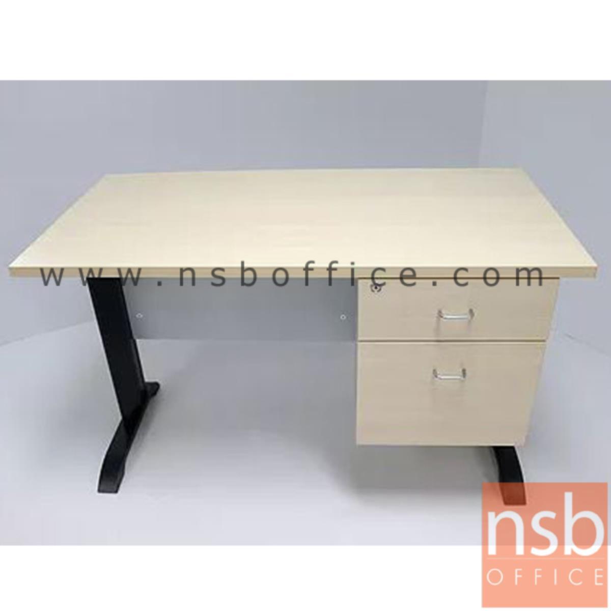 โต๊ะทำงาน 2 ลิ้นชัก รุ่น Sutton (ซัตตัน) 120W, 135W, 150W, 180W (60D) cm. ขาเหล็กตัวแอล