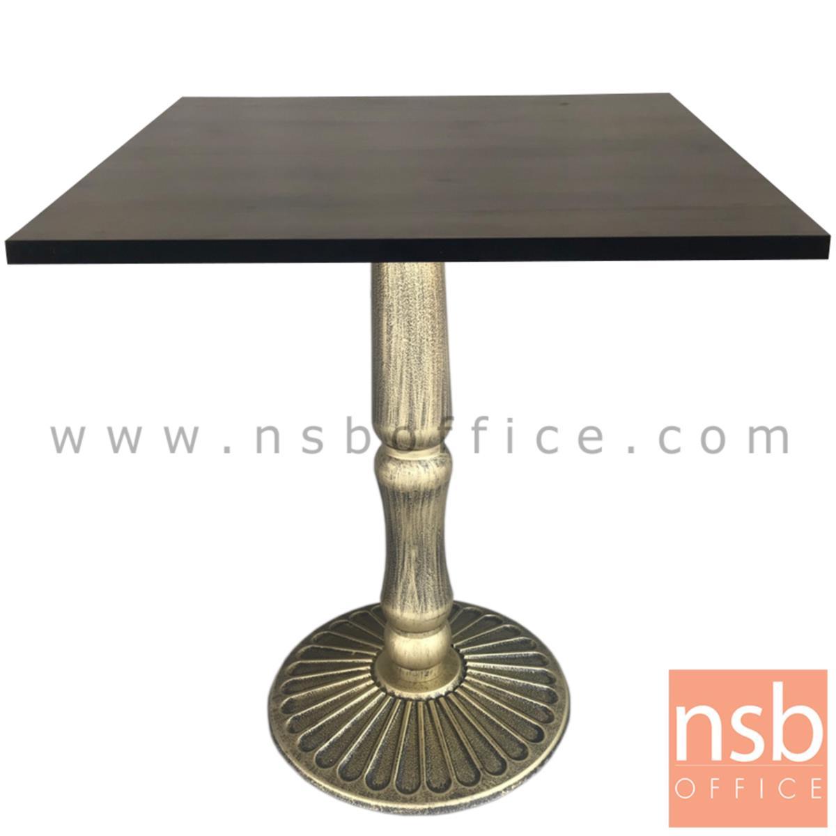 ขาโต๊ะบาร์จานกลมทรงหมูกระทะ สีทองเส้นดำ รุ่น BBQ