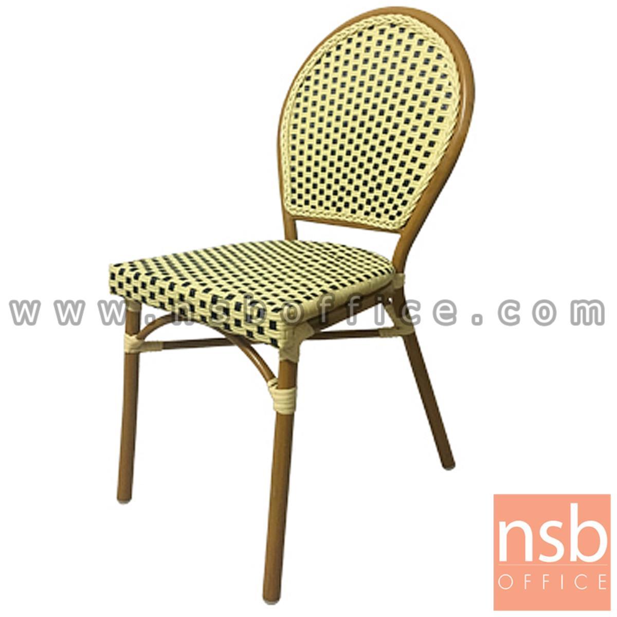 G08A241:เก้าอี้สนามหวายเทียมสาน รุ่น General lite ไม่มีท้าวแขน (ใช้กับโต๊ะหวายฯ รุ่น G08A235)