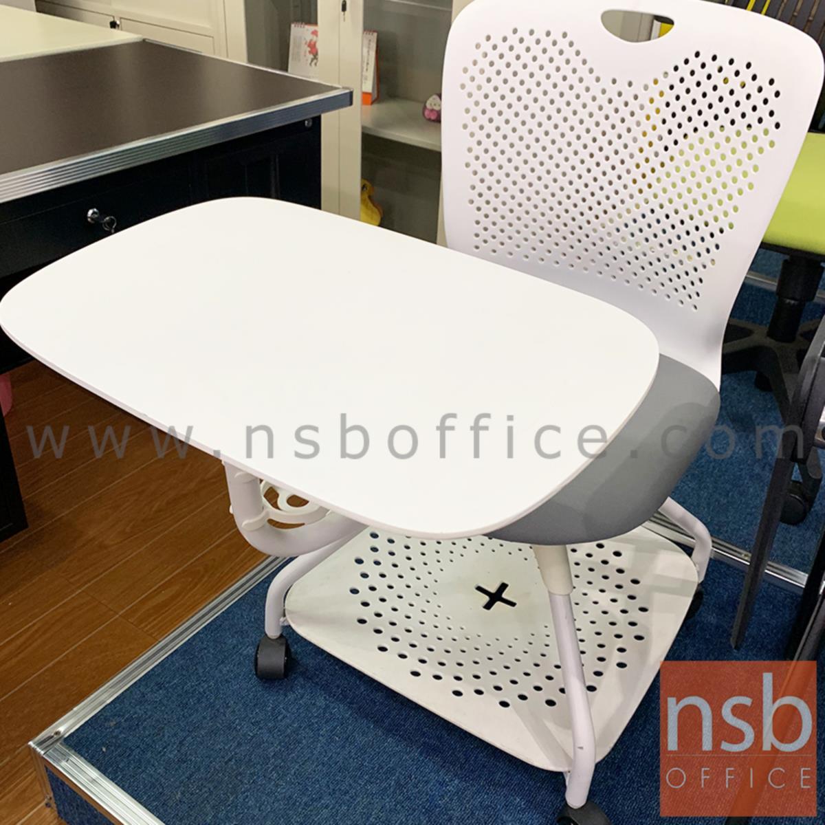 เก้าอี้เลคเชอร์ รุ่น Digory (ดิกอรี่)  โครงขาเหล็กล้อเลื่อน ฐานด้านล่างวางกระเป๋าได้