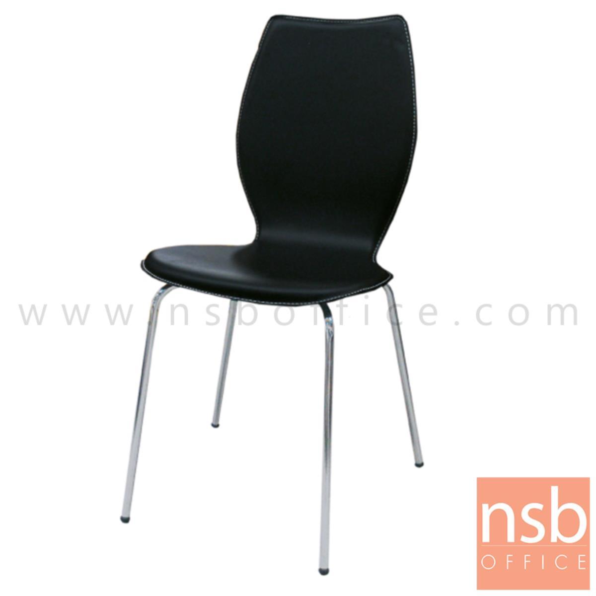 B20A058:เก้าอี้อเนกประสงค์ไม้วีเนียร์ดัด รุ่น Gorgonzola (กอร์กอนโซล่า)  ขาเหล็กชุบโครเมี่ยม