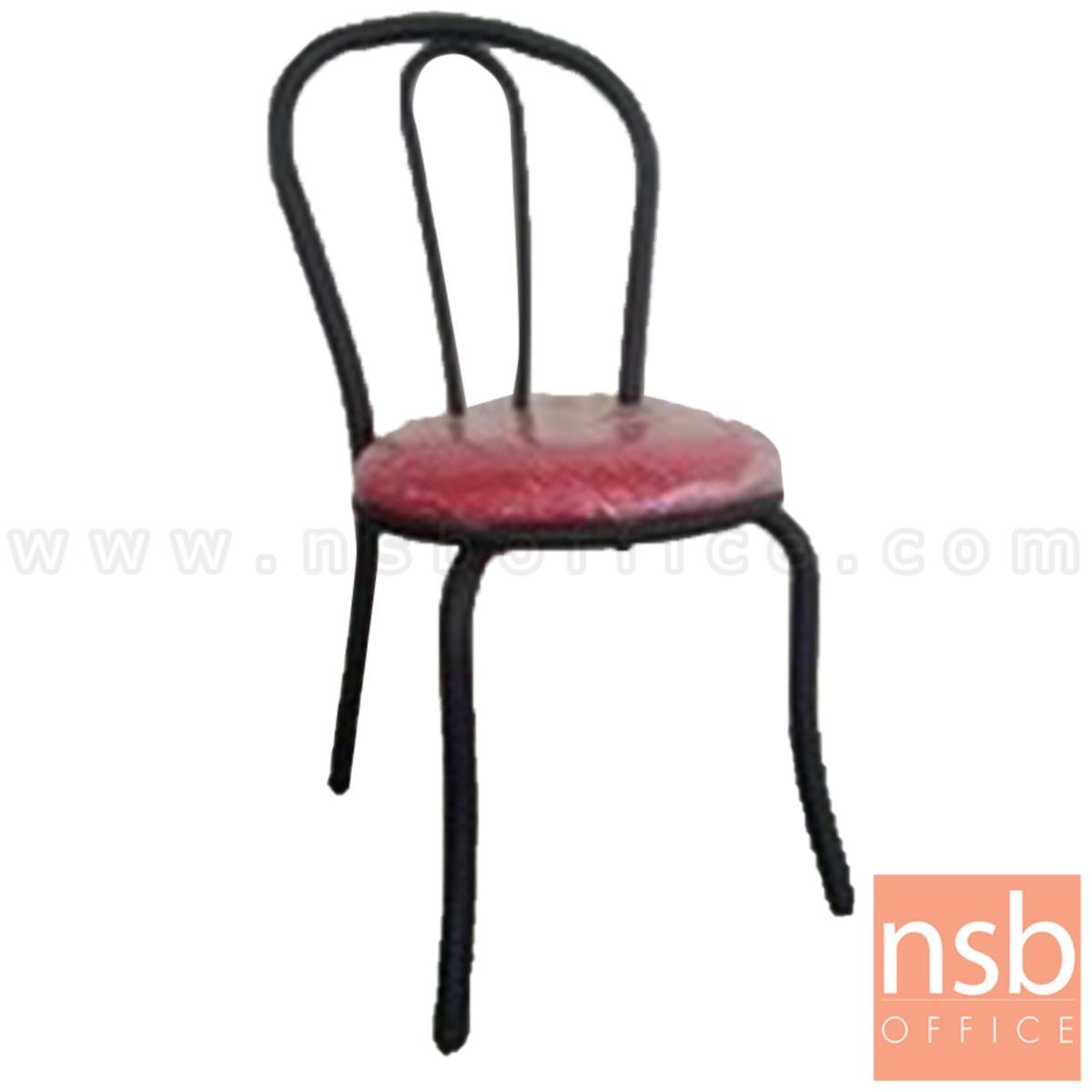 B20A113:เก้าอี้อเนกประสงค์เหล็ก รุ่น Sibyl (ซิบิล)  ขาเหล็กพ่นสีดำ