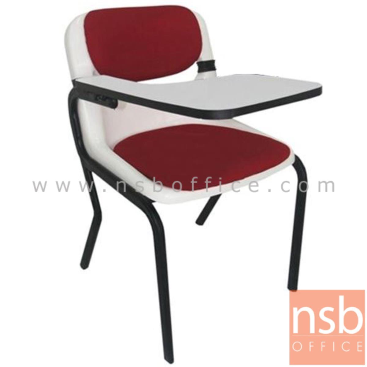 B07A068:เก้าอี้เลคเชอร์เฟรมโพลี่ รุ่น B-790 ขาเหล็กท่อแป๊บไข่พ่นสีดำ