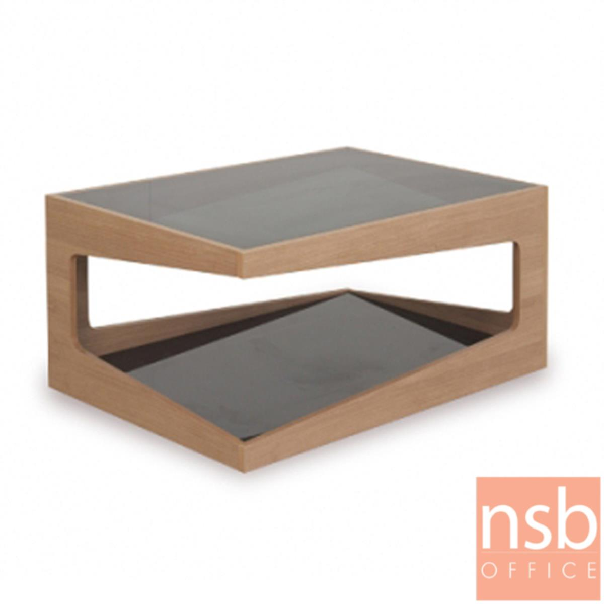 B13A244:โต๊ะกลางโซฟากระจก  รุ่น GD-SE ขนาด 60W ,90Wcm.  โครงไม้