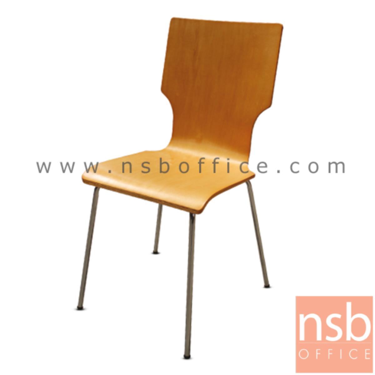 เก้าอี้อเนกประสงค์ไม้เมลามีน รุ่น Amphibia (แอมฟิเบีย)  ขาเหล็กชุบโครเมี่ยม