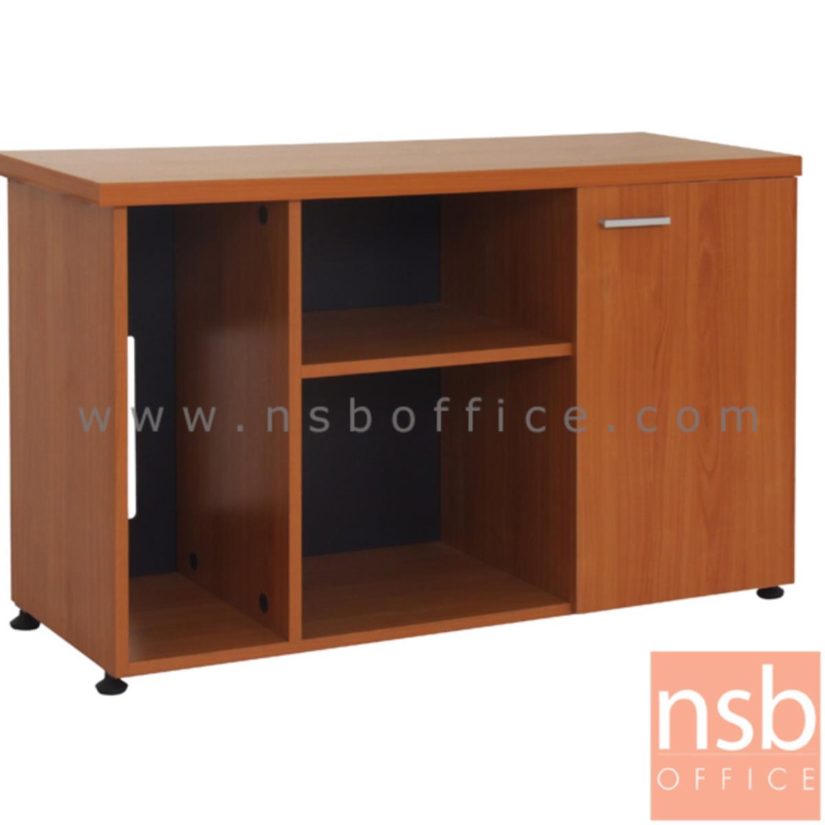 โต๊ะผู้บริหารตัวแอล  รุ่น TIP  ขนาด 180W1*89W2 cm. พร้อมตู้ข้างและลิ้นชักล้อเลื่อน สีเชอร์รี่-ดำ