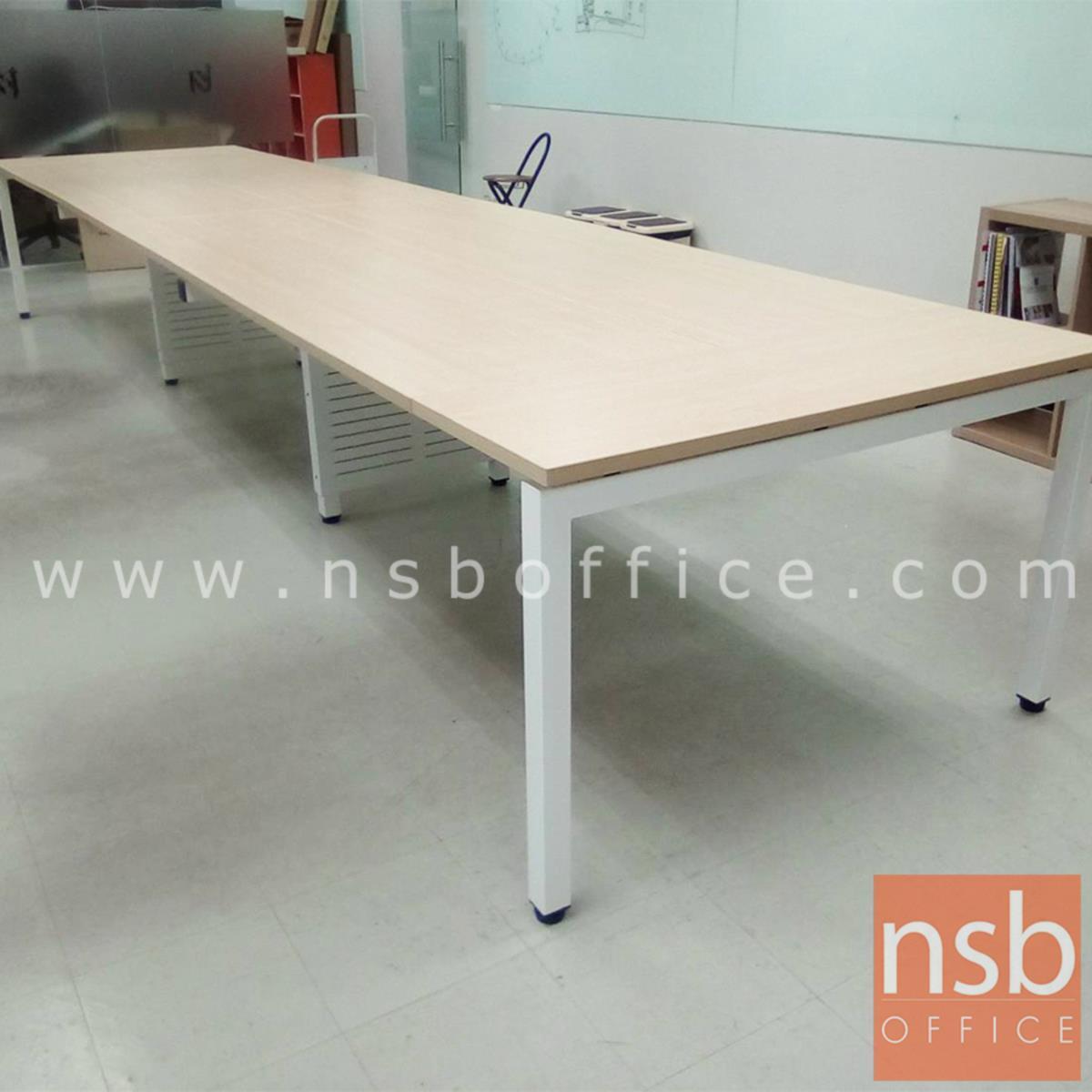 โต๊ะประชุมทรงสี่เหลี่ยม 120D cm. รุ่น CONNEXX-021 ขนาด 280W ,320W ,440W ,520W ,620W cm.  ขากลางมีกล่องร้อยสาย