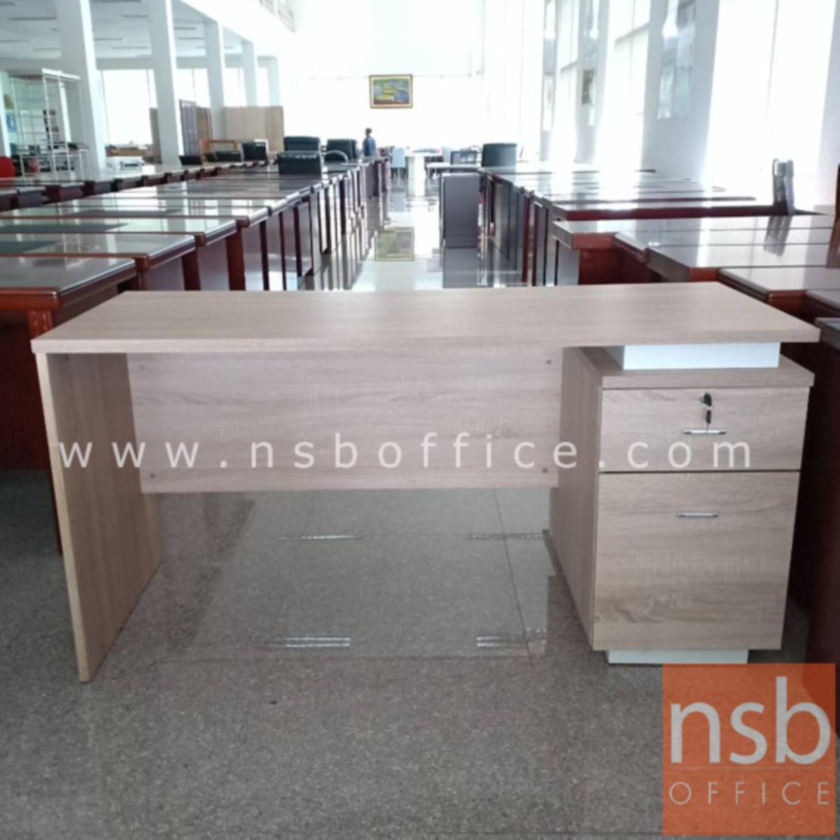 โต๊ะทำงาน 1 ลิ้นชัก 1 บานเปิด  รุ่น D-CP ขนาด 150W cm. เมลามีน