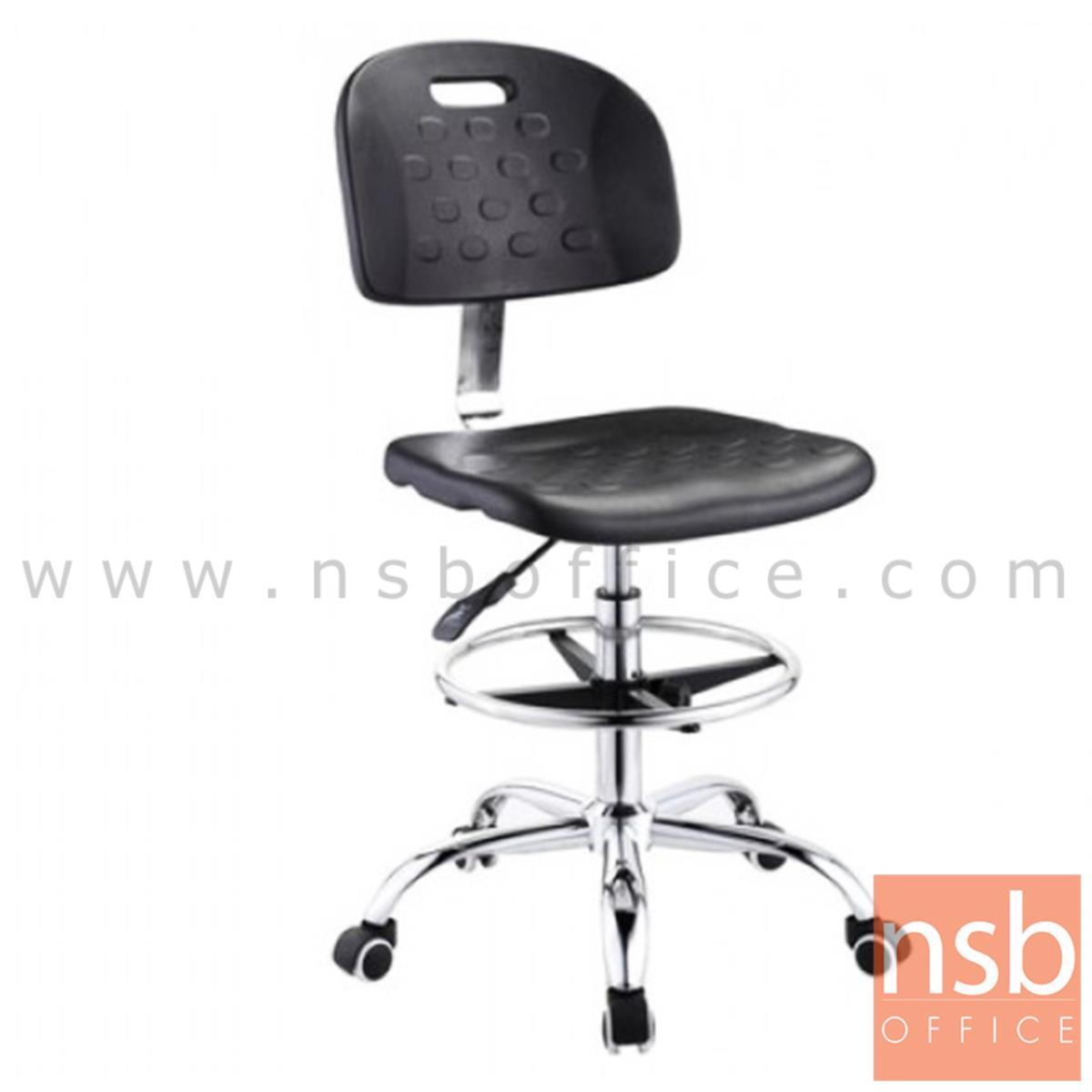 B02A069:เก้าอี้บาร์ที่นั่งเหลี่ยมล้อเลื่อน รุ่น Warner (วอร์เนอร์)  โช๊คแก๊ส ขาพลาสติก