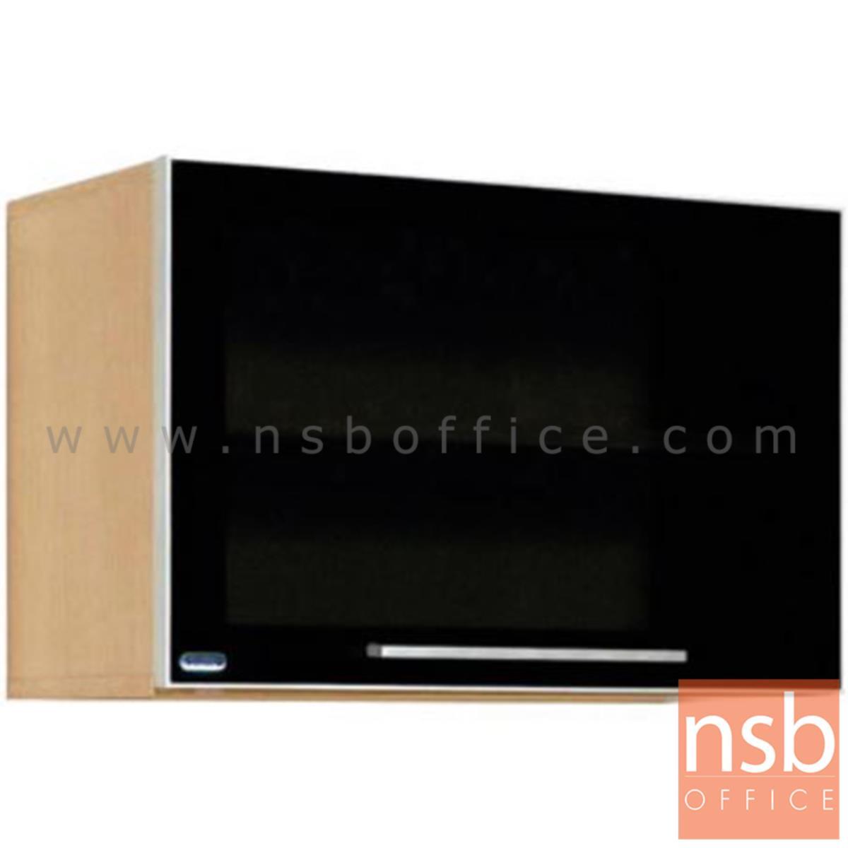 K02A008:ตู้แขวนผนังบานเปิดกระจกดำ สีบีชดำ รุ่น Junket (จังเก็ต) เมลามีน (สำหรับครัวเปียกและครัวแห้ง)