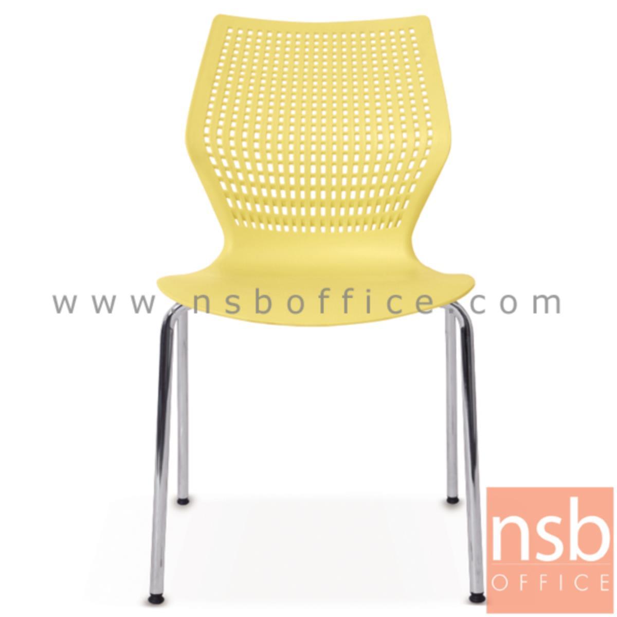 เก้าอี้อเนกประสงค์เฟรมโพลี่ รุ่น YT-02LVL  ขาเหล็กชุบโครเมี่ยม