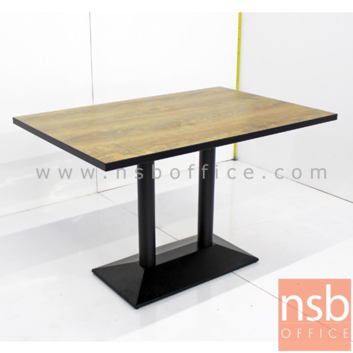 A14A174:โต๊ะบาร์ COFFEE รุ่น H-CF48 ขนาด 120W cm. ขาเหล็กฐานพีระมิดสีดำ
