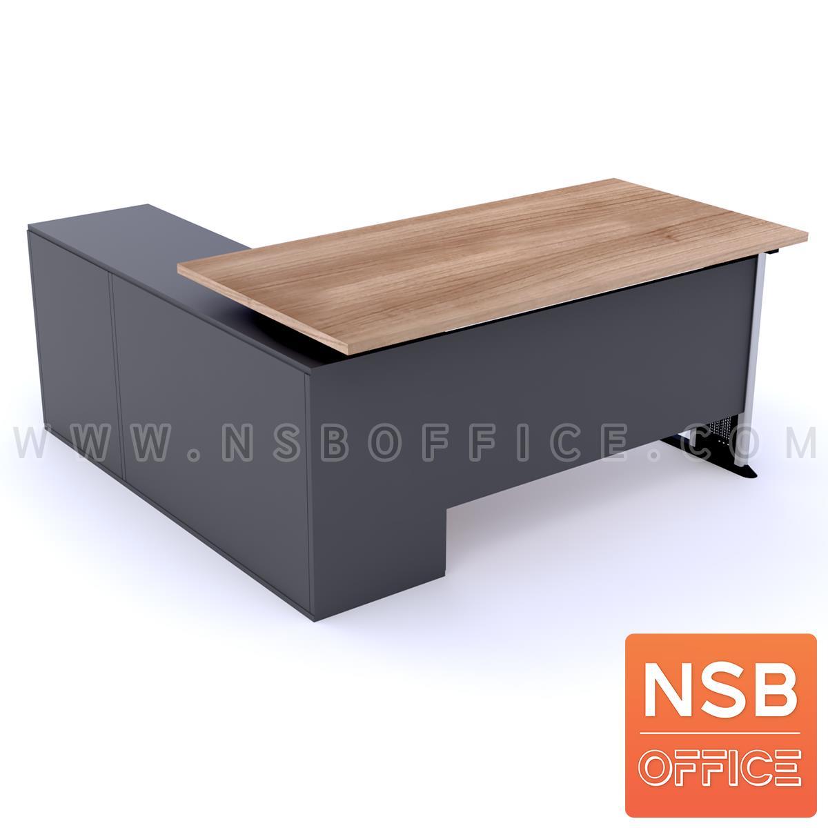 โต๊ะทำงานตัวแอล   ขนาด 150W1 ,165W1*130W2 cm.  พร้อมตู้ข้างเตี้ย เมลามีน