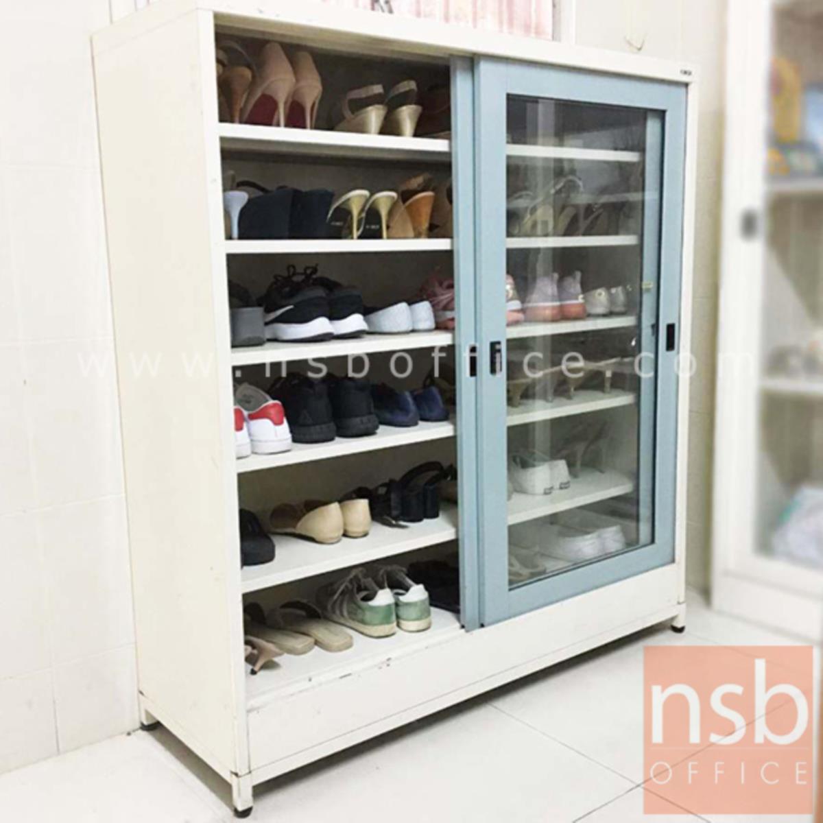 ตู้เหล็กวางรองเท้า N-0120 118.5W cm.  สูงพิเศษ พร้อมฐานรองแบบขาลอย