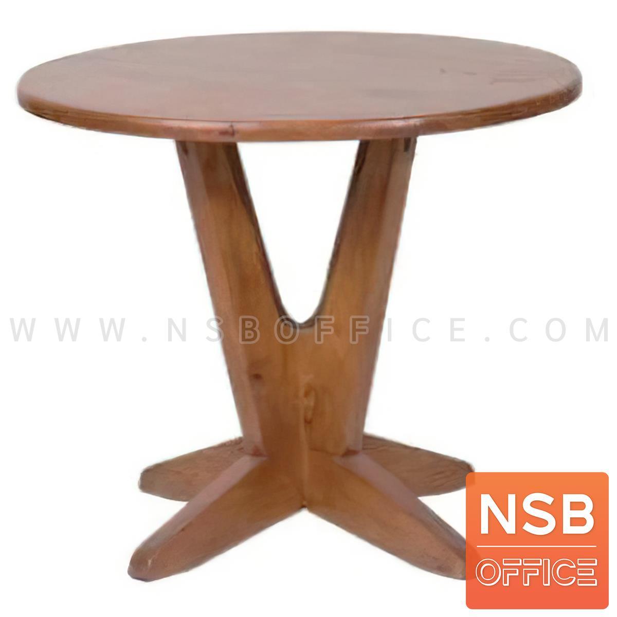 A14A282:โต๊ะบาร์หน้าไม้ยางพารา รุ่น Thatcher 2 (แทตเชอร์ 2)   ขาไม้