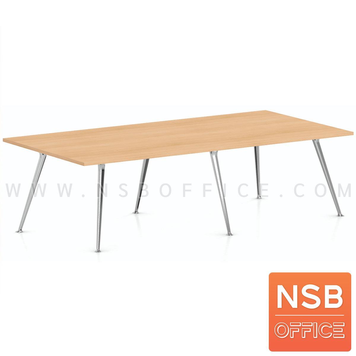 A05A231:โต๊ะประชุมทรงสี่เหลี่ยม  รุ่น Bronze (บรอนซ์) ขนาด 240W*120D cm. ขาเหล็ก