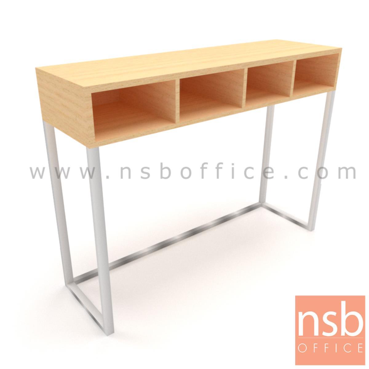 A22A020:โต๊ะเคาน์เตอร์บาร์สูงหน้าตรง  รุ่น Bar-D ขนาด 120W,150W,180W cm.  ช่องวางของ