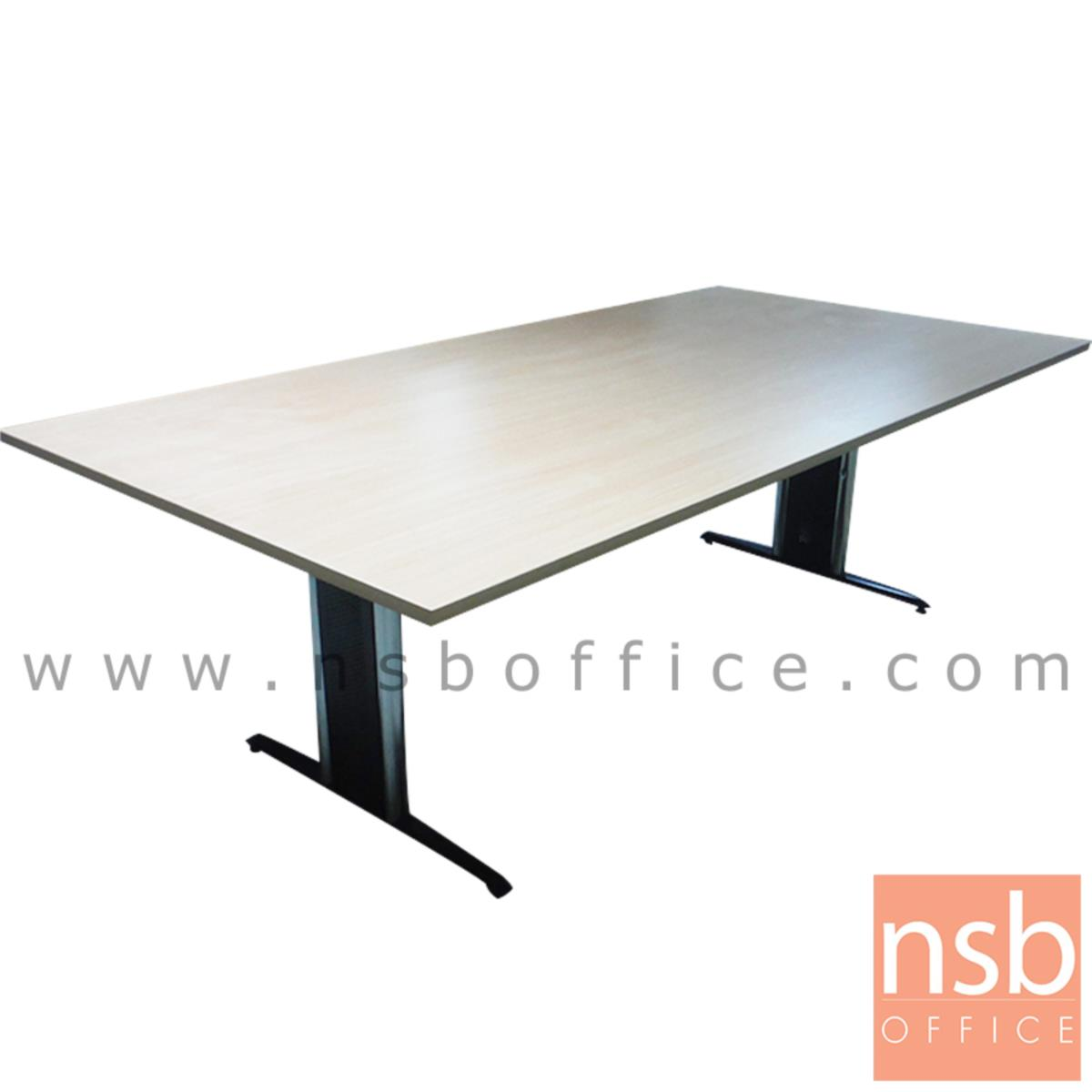A05A007:โต๊ะประชุมทรงสี่เหลี่ยม  6 ,8 ,10 ที่นั่ง ขนาด 180W ,200W ,240W cm. ขาเหล็กตัวไอ (ราคาไม่รวมเก้าอี้)