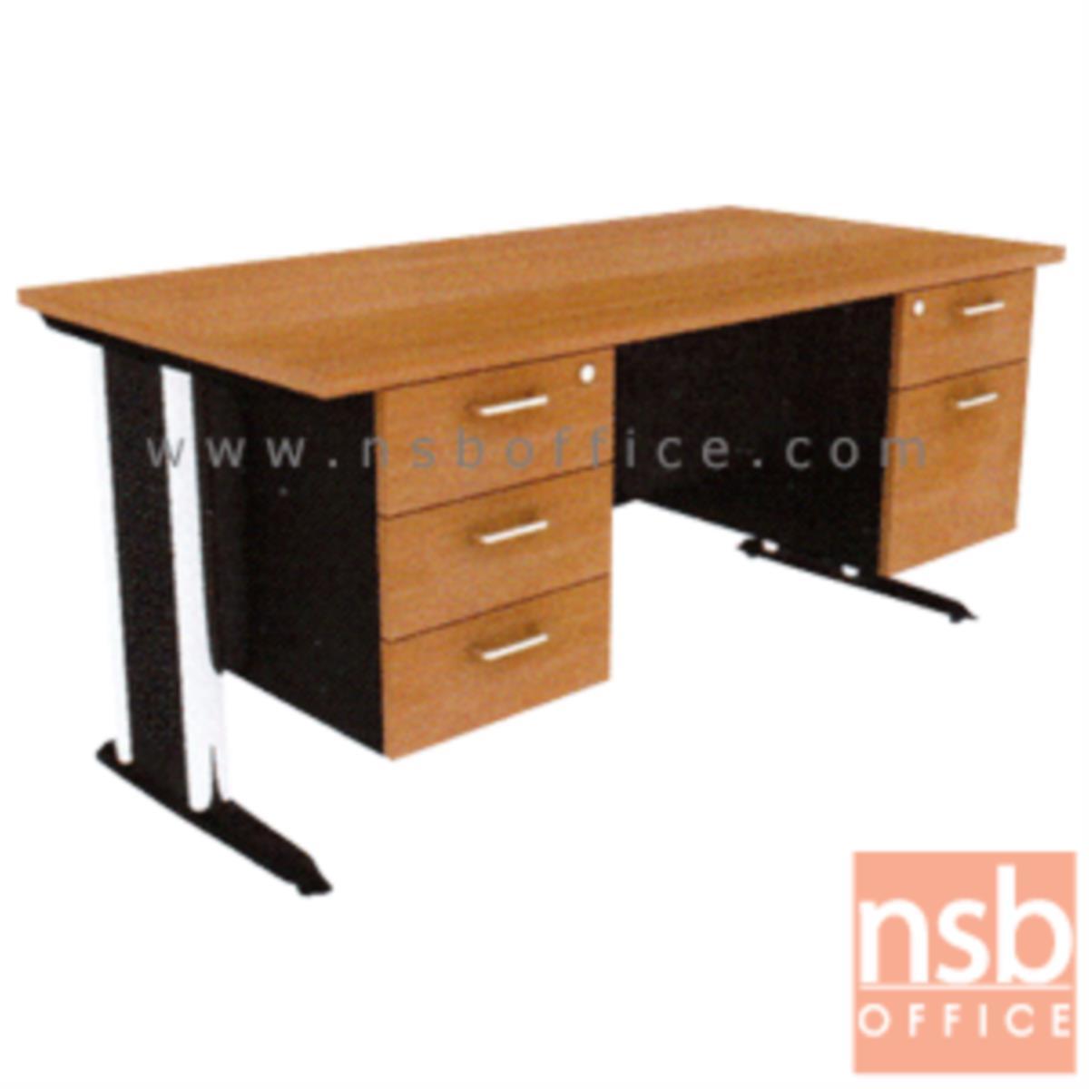 A18A004:โต๊ะทำงาน 5 ลิ้นชักข้าง  ขนาด 150W ,165W ,180W (*75D,80D) cm. เมลามีน