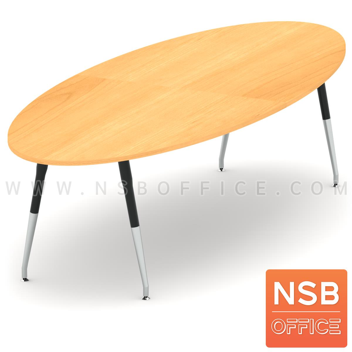 โต๊ะประชุมทรงวงรี รุ่น Malik (มาลิค) ขนาด 300W cm. ขาเหล็กปลายเรียว