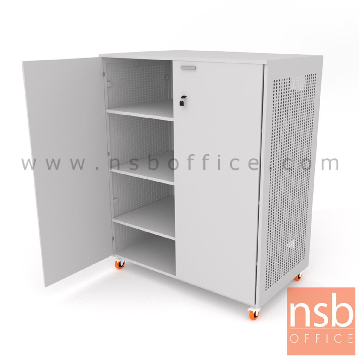 ตู้เก็บเครื่องมืออุปกรณ์ไฟฟ้าแบบเคลื่อนที่ได้  รุ่น NSB-2013 ขนาด 120W*150H cm. ลูกล้อพียู (รับผลิตนอกแบบ)
