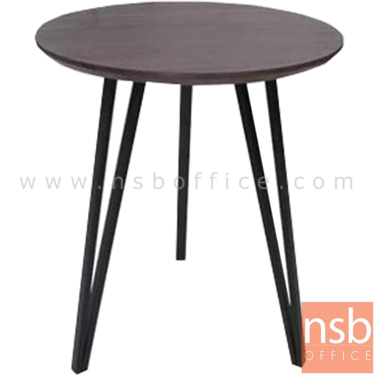 A14A231:โต๊ะกลมหน้าไม้ รุ่น CACERES (กาเซเรส) ขนาด 60Di cm. ขาเหล็ก