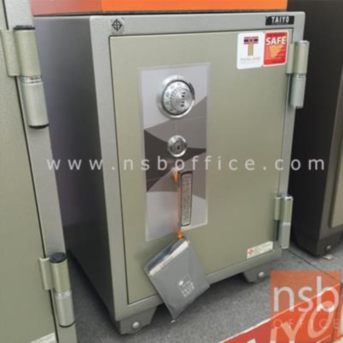 ตู้เซฟ TAIYO 100 กก. 1 กุญแจ 1 รหัส TS 670 K1C มอก.   เจาะช่องบริจาก