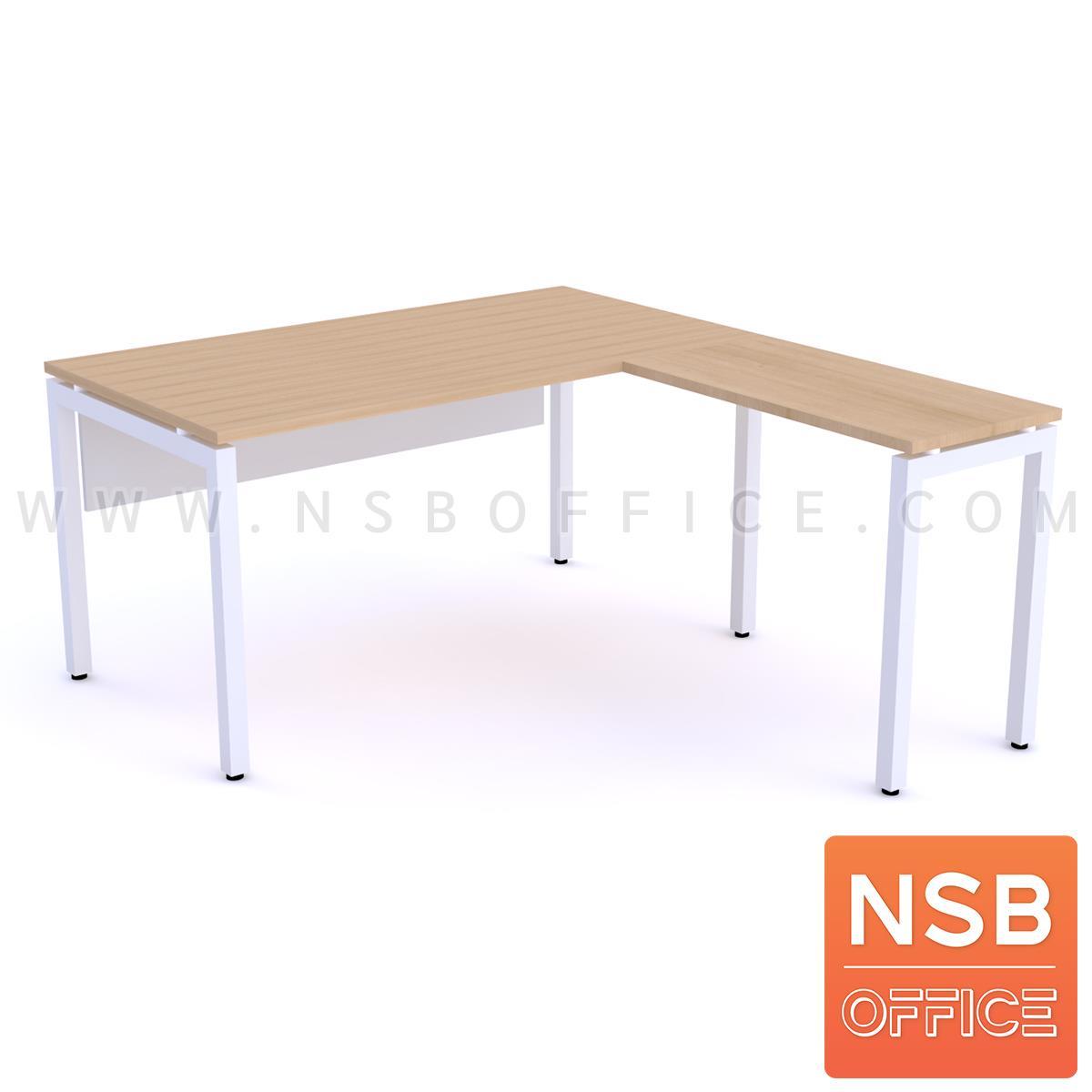 A18A027:โต๊ะทำงานตัวแอล  ขนาด 150W1 ,180W1*170W2 cm.  ขาเหล็กตรง
