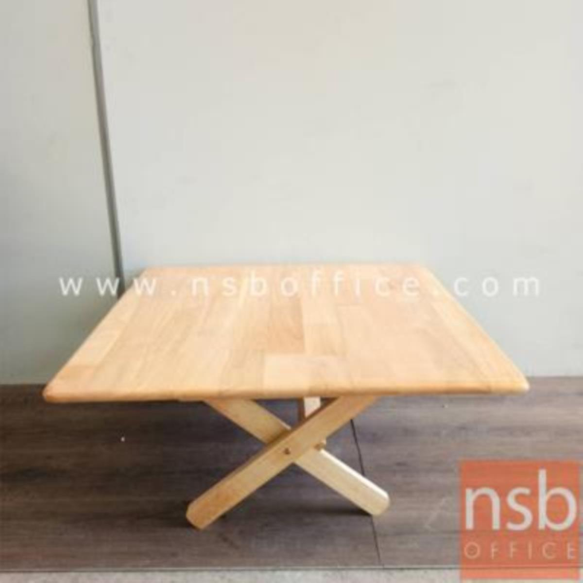 โต๊ะพับหน้าไม้ยางพารา รุ่น Pansy (แพนซี) ขนาด 60W ,75W cm.  สีธรรมชาติ