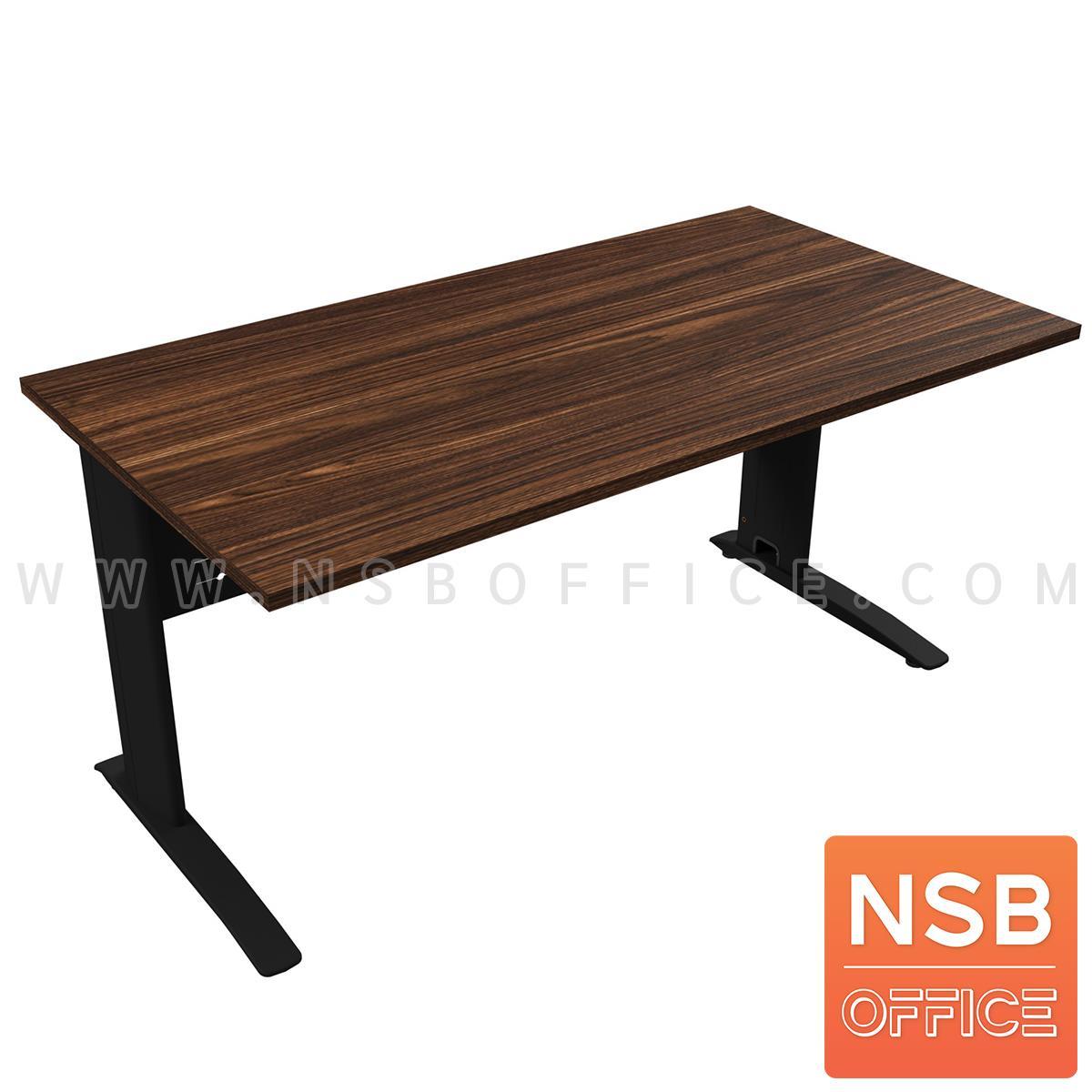 โต๊ะทำงาน รุ่น Westcon (เวสต์คอน) ขนาด 120W, 150W, 180*60D cm. บังโป๊เหล็ก ขาเหล็กตัวแอลพ่นสี