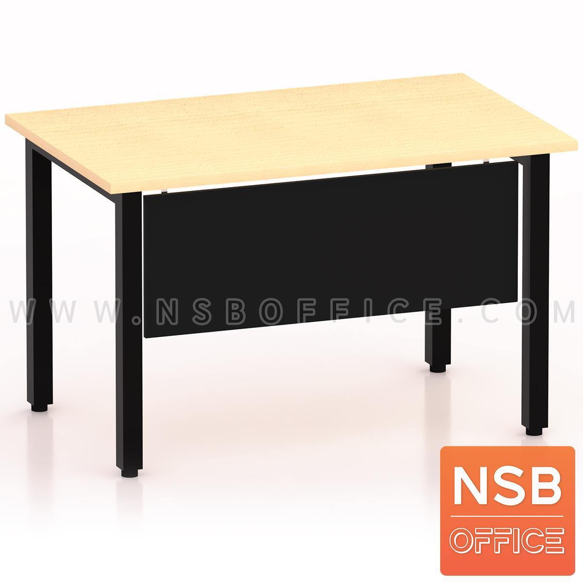 A18A061:โต๊ะทำงาน บังโป๊ไม้  ขนาด 120W ,135W ,150W ,180W cm.  ขาเหล็กเหลี่ยมทำสี