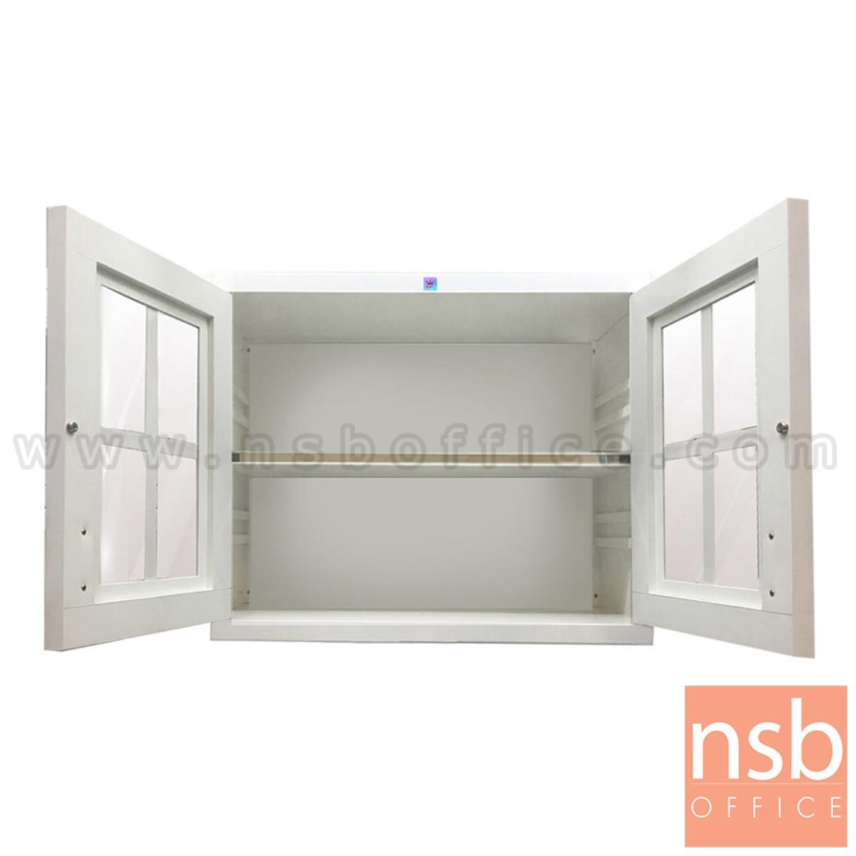 ตู้แขวนลอย PVC รุ่น Buttercup (บัตเทอร์คัพ)  หน้าบานกระจก