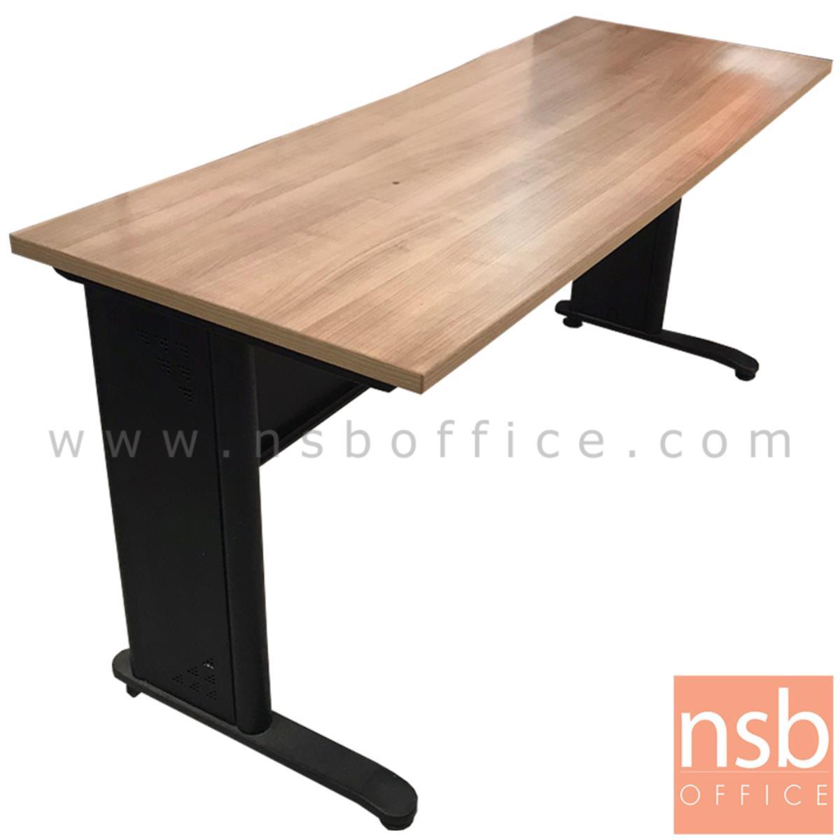 โต๊ะทำงานโล่ง บังตาเหล็ก  ขนาด 160W*76H cm. ขาเหล็กพ่นดำ