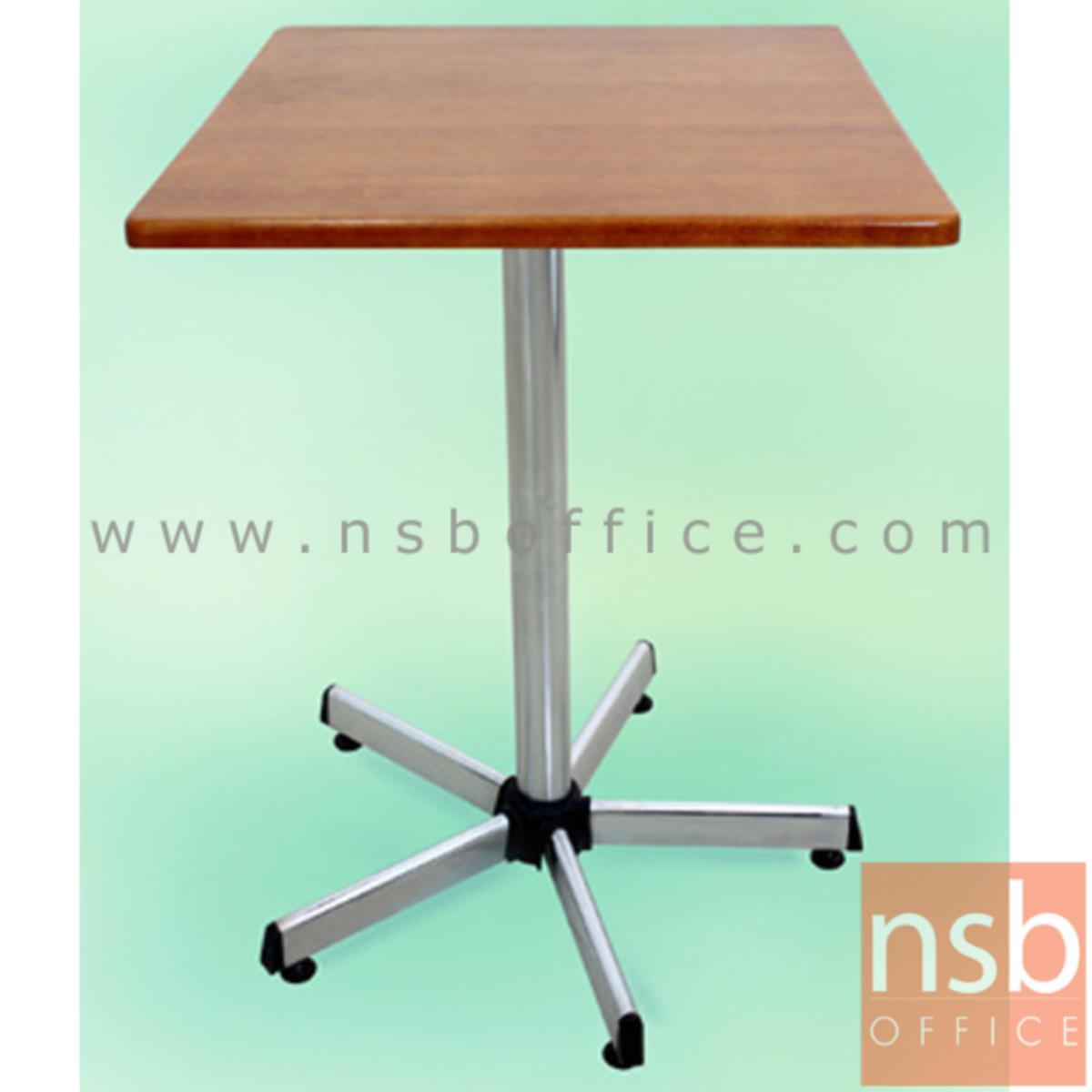 A14A007:โต๊ะไม้ยางพารา รุ่น Fyn (ฟิน) ขนาด 60W ,75W cm. ขาเหล็ก