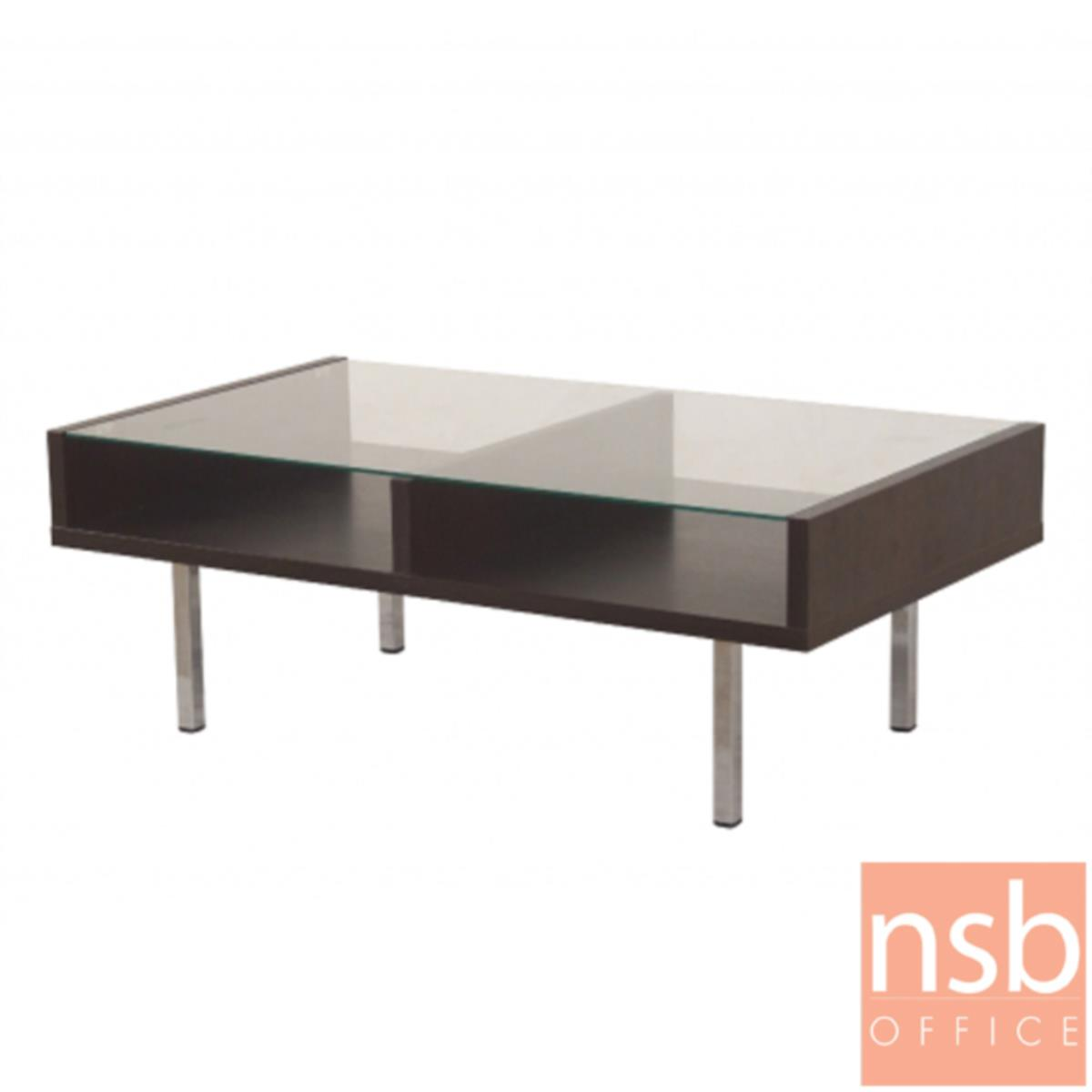โต๊ะกลางโซฟากระจกใส  รุ่น GD-TNY ขนาด 60W ,105W cm.  โครงไม้