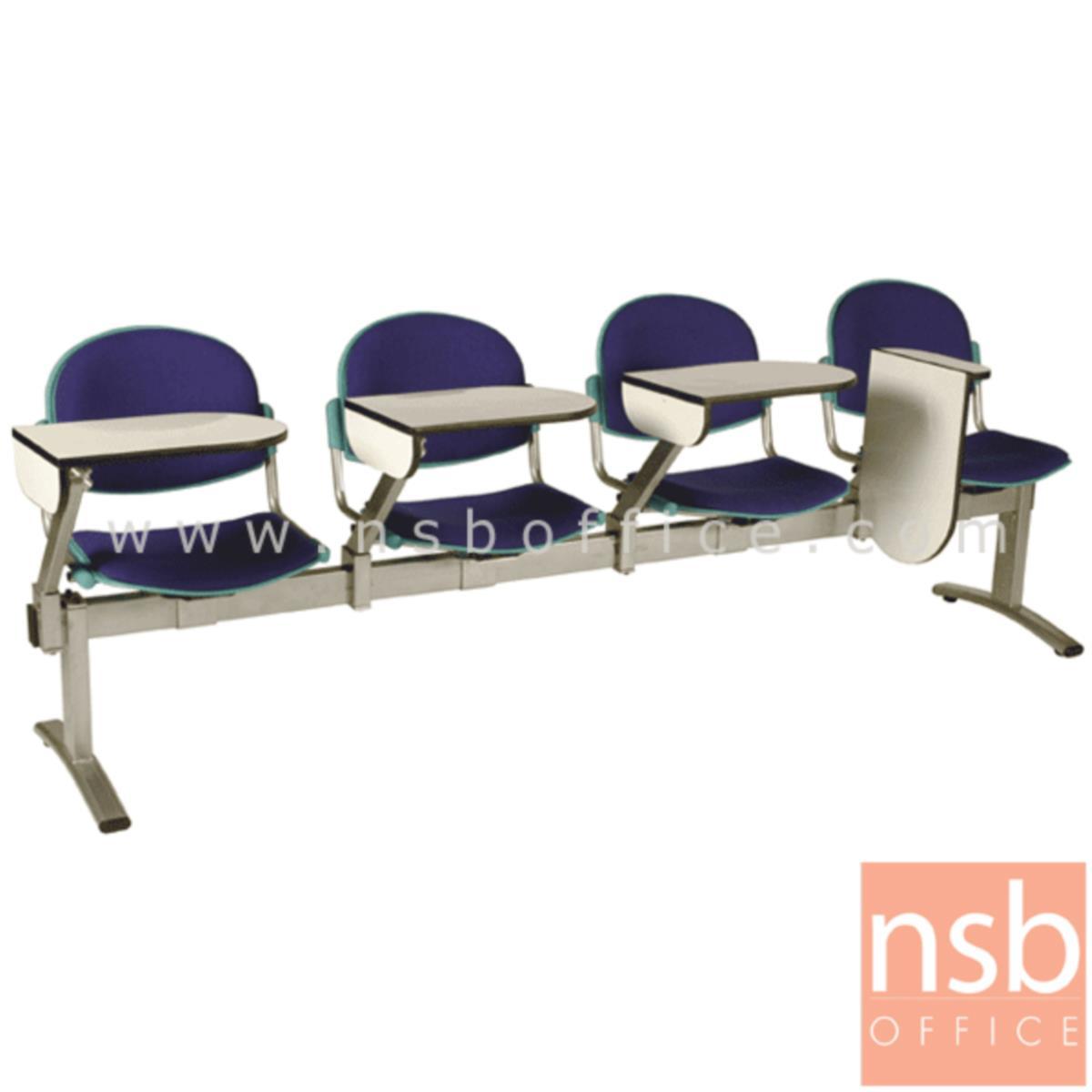 เก้าอี้เลคเชอร์แถวเฟรมโพลี่หุ้มเบาะ รุ่น D756 2 ,3 และ 4 ที่นั่ง ขาเหล็กพ่นสีเทา