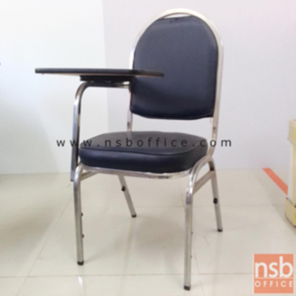 B07A005:เก้าอี้เลคเชอร์หุ้มหนังเทียม (PVC) รุ่น CL-500 ขาเหล็กชุบโครเมี่ยมและขาเหล็กพ่นดำ