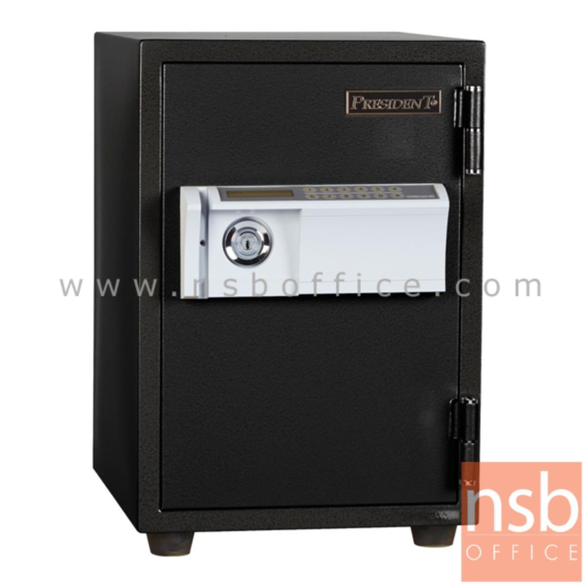 F05A055:ตู้เซฟดิจิตอล 50 กก. แนวตั้ง รุ่น PRESIDENT-SS2D2  มี 1 กุญแจ 1 รหัส (รหัสใช้กดหน้าตู้)