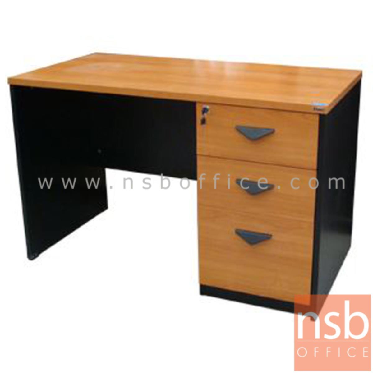 A16A037:โต๊ะทำงาน 3 ลิ้นชัก รุ่น Pierce (เพียซ) ขนาด 120W cm. เมลามีน