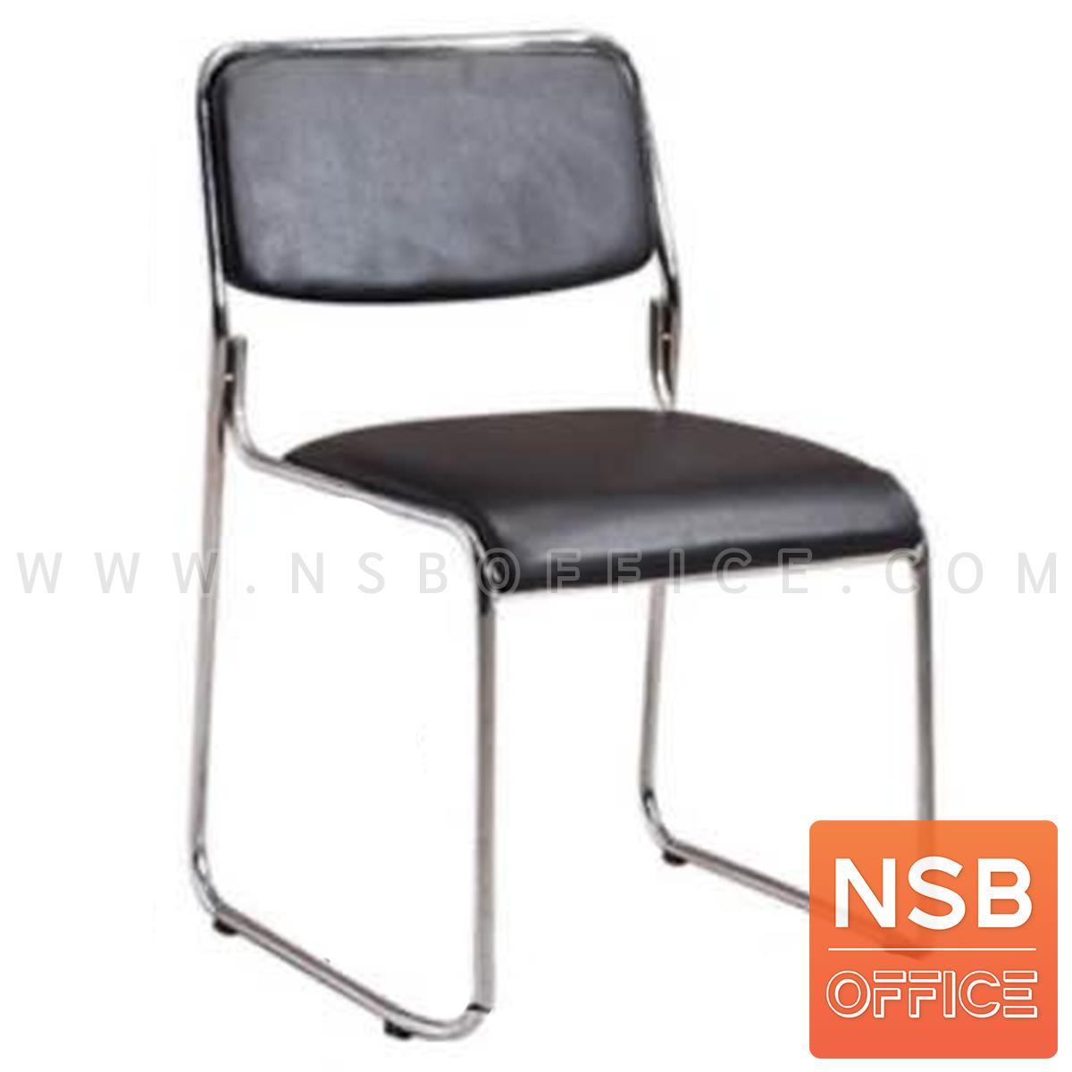 B05A181:เก้าอี้อเนกประสงค์หุ้มหนัง รุ่น Ceasar (ซีซาร์)  ขาเหล็ก